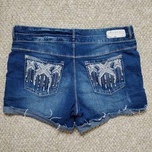 Amethyst Jeans embellished cuffed cutoff shorts